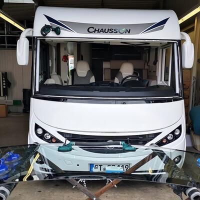 Frontscheibe | Windschutzscheibe ersetzen Wohnmobil Chausson Exaltis Vollintegriert