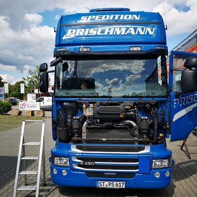 Windschutzscheibe LKW wechseln Scania R450 5er Reihe