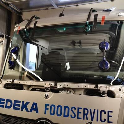 Austausch Windschutzscheibe LKW Mercedes Antos 2018-