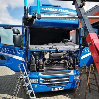 Windschutzscheibe LKW erneuern Scania R450 5er Reihe
